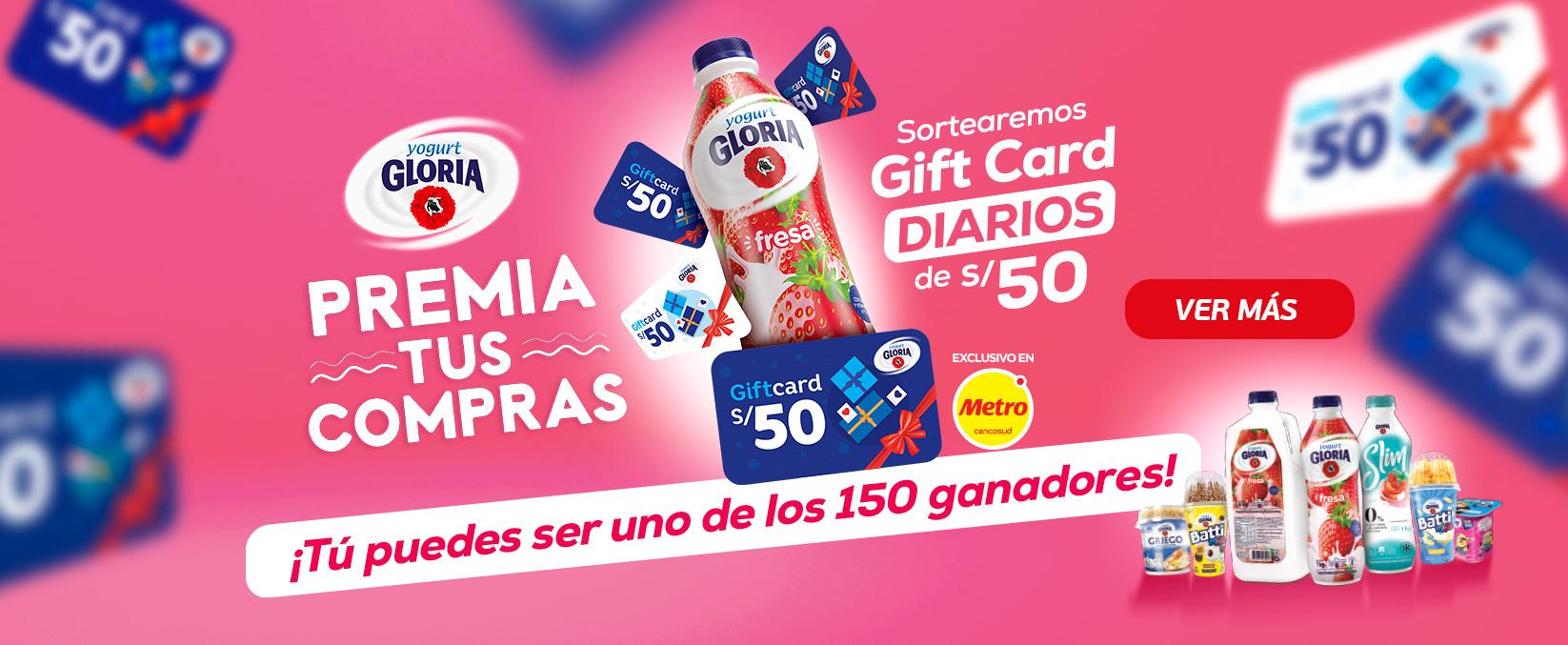 Yogurt Gloria premia tus compras